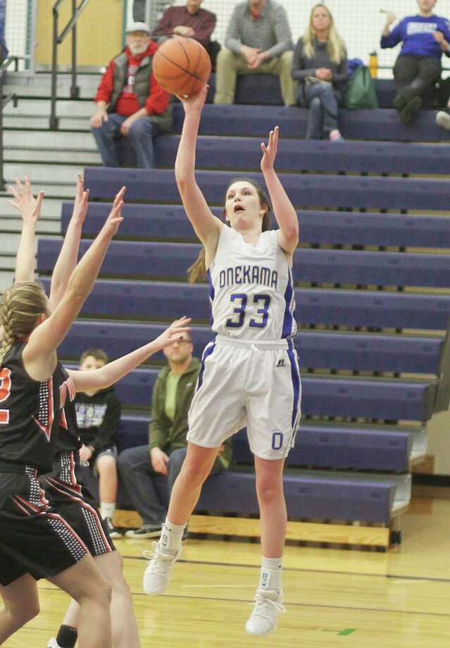 Onekama's Colleen McCarthy was named academic all-state by the Basketball Coaches Association of Michigan. (News Advocate file photo)