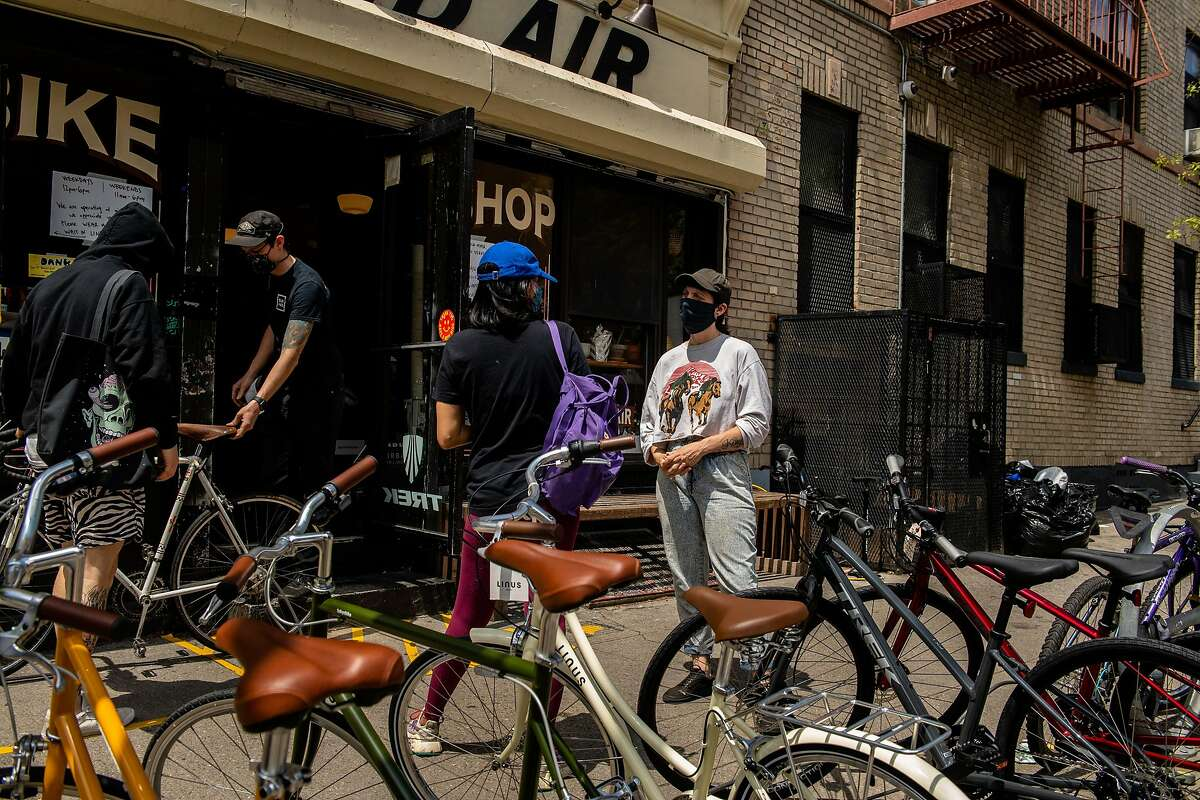 The Sun and Air bike shop in Brooklyn, Friday, May 15, 2020. Most American importers expect the first shipments of new bicycles to arrive by mid-June, though many retailers have already sold most of the inventory they expect to receive then through early orders from customers. (Hilary Swift/The New York Times)
