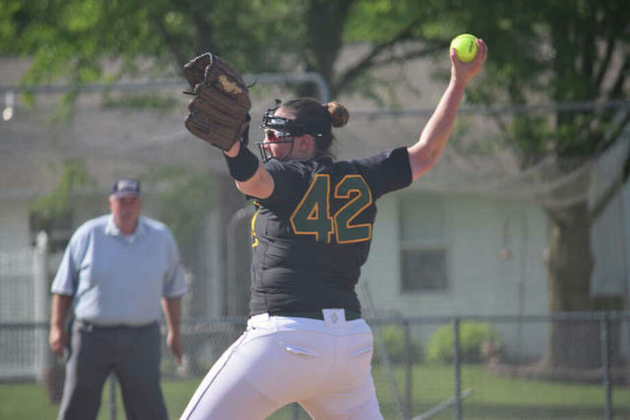 Metro-East Lutheran's Ryleigh Isbell delivers a pitch during a game last season. Photo: For The Intelligencer