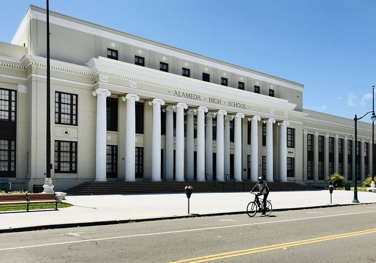 Alameda High School in Alameda remains closed on May 18, 2020, with students engaging in distance learning.