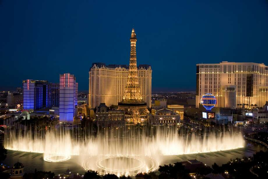The fountains at the Bellagio in Las Vegas are back on as the city welcomes back visitors with cheap hotel prices and plenty of airfare deals Photo: Karl Weatherly / Getty Images