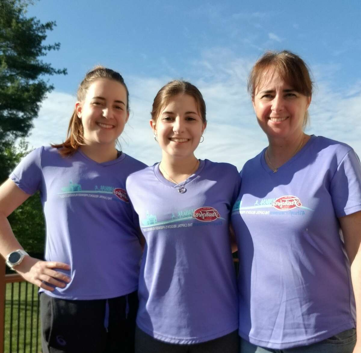 Ciara, Skyler and Agnes Knott, who will competing in the virtual Freihofer's Run for Women. (Courtesy photo)