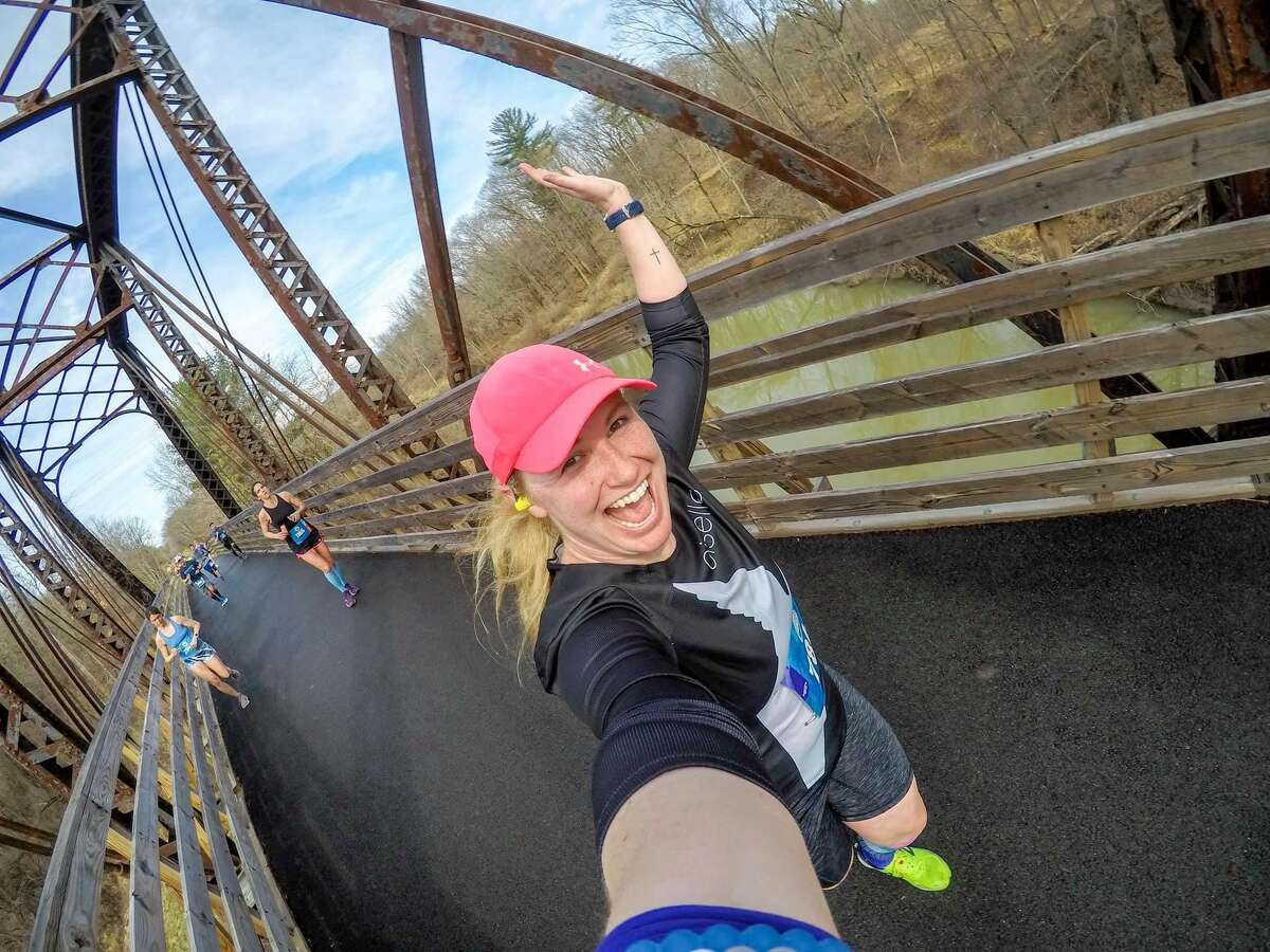 Brittany Mangione of Troy said she's running the virtual version of the Freihofer's Run for Women to keep the tradition alive this year. (Courtesy photo)