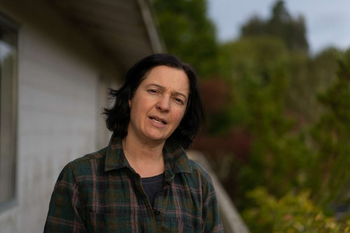 Shannon Bennett, Cal Academy of Sciences, Chief of Science studies infectious diseases that can be transmitted from animals to humans. Here, she is at her home on Friday, March 20, 2020, in Mill Valley, Calif.