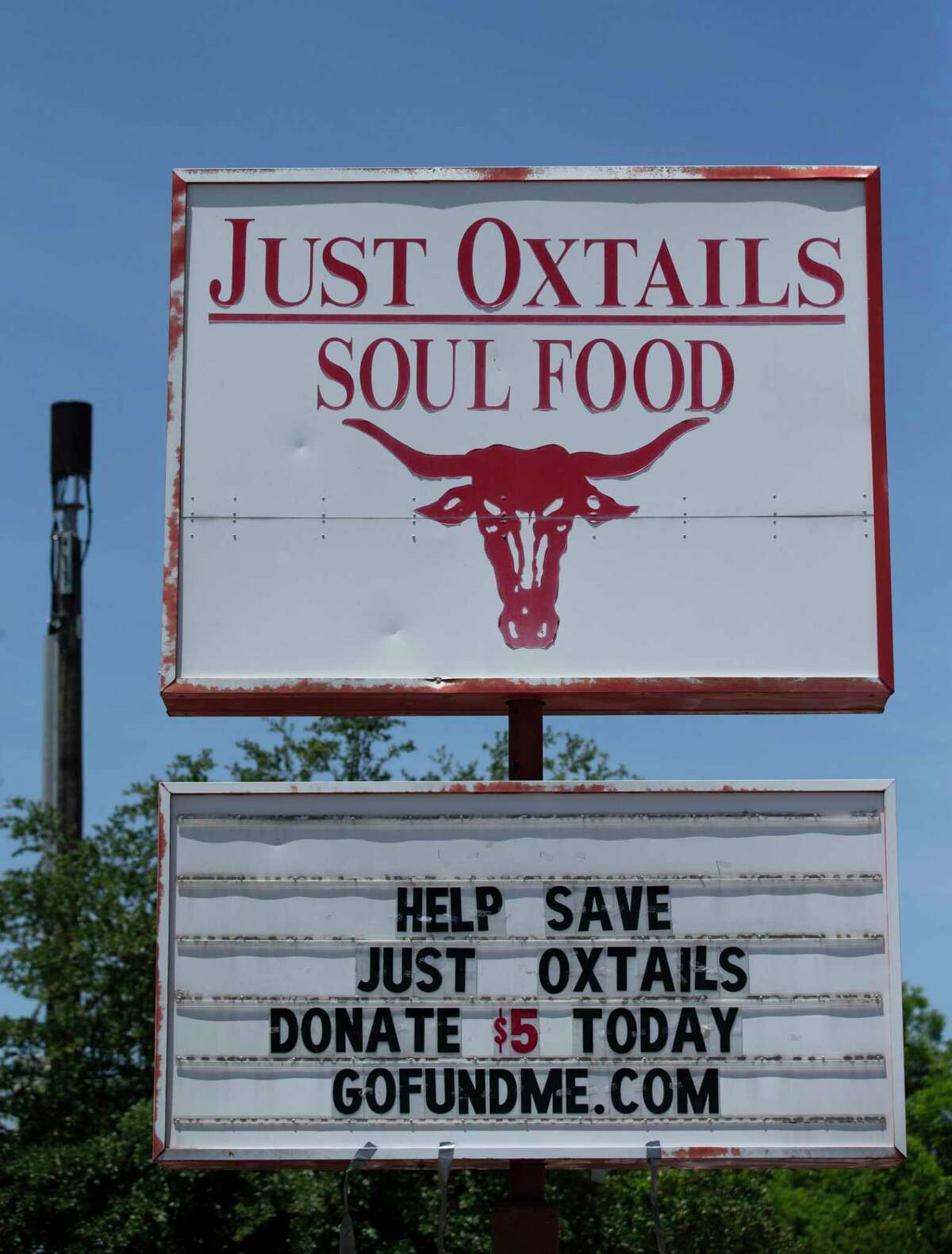 Kenneth Washington, owner Just Oxtails Soul Food, has turned to the GoFundMe website to get donation help Monday, May 11, 2020, at Sunnyside in Houston. Washington has closed his restaurant of 18 years since late March and is stil waiting to see if he will get loan and is wondering if he'll be able to open again.