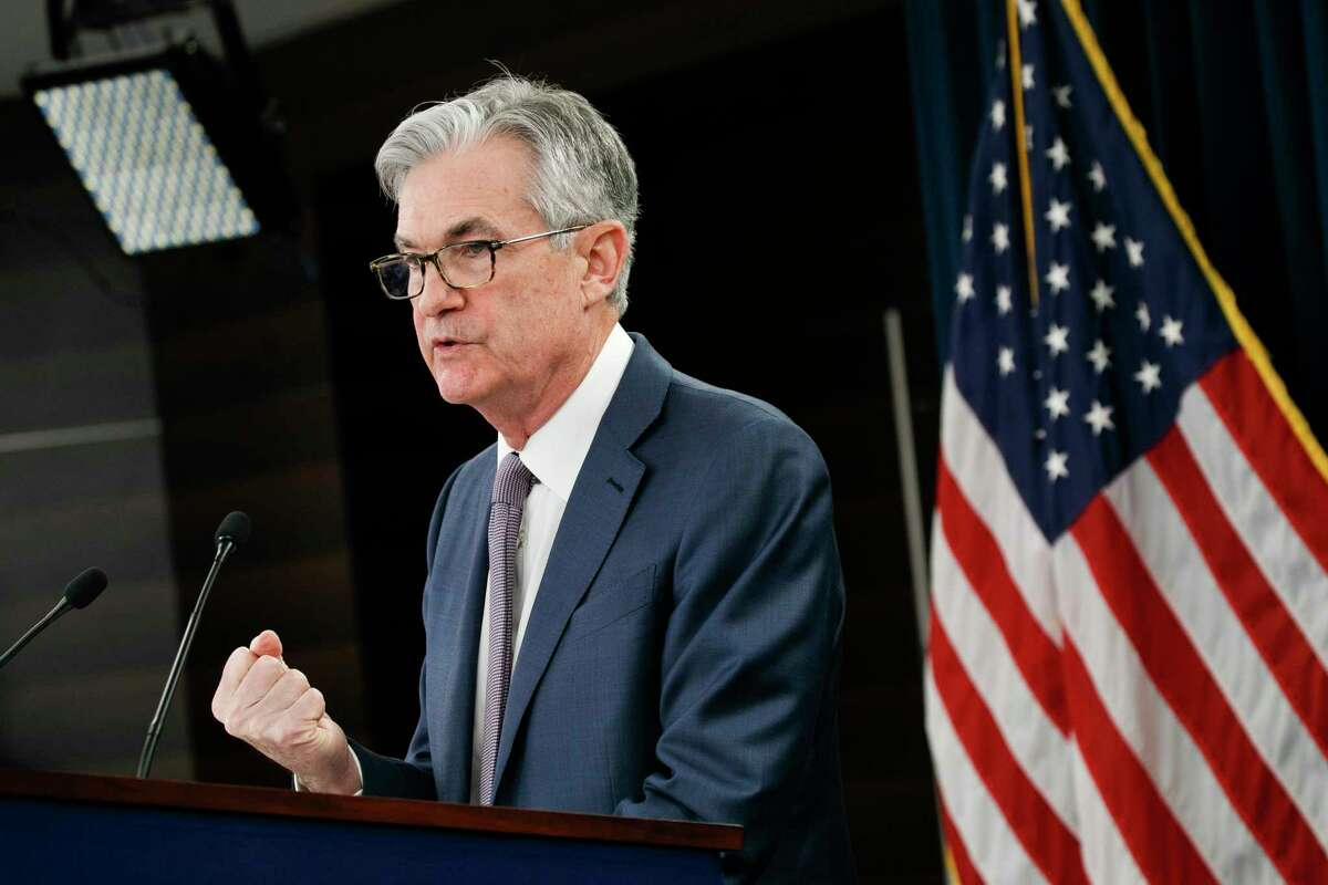 In this March 3, 2020 file photo Federal Reserve Chair Jerome Powell speaks during a news conference in Washington. Powell is pledging to reveal the names and other details of the entities that borrow from the emergency programs the central bank has set up to offset the economic hit from the viral outbreak. In prepared testimony for a Tuesday, May 19, 2020 congressional hearing, Powell says the central bank will disclose the amounts borrowed and the interest rates it levies under its programs to provide credit for large corporations, state and local governments, and medium-sized businesses. (AP Photo/Jacquelyn Martin, file)