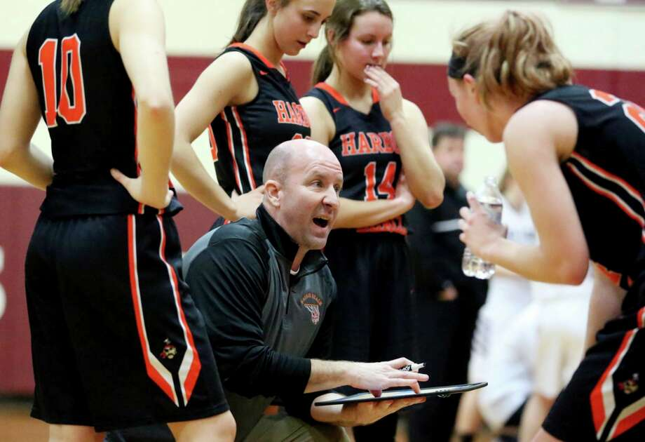 Harbor Beach teacher and coach Jim Tamlyn takes pride in the accomplishments of his students and players both on and off the court. (Tribune File Photo)