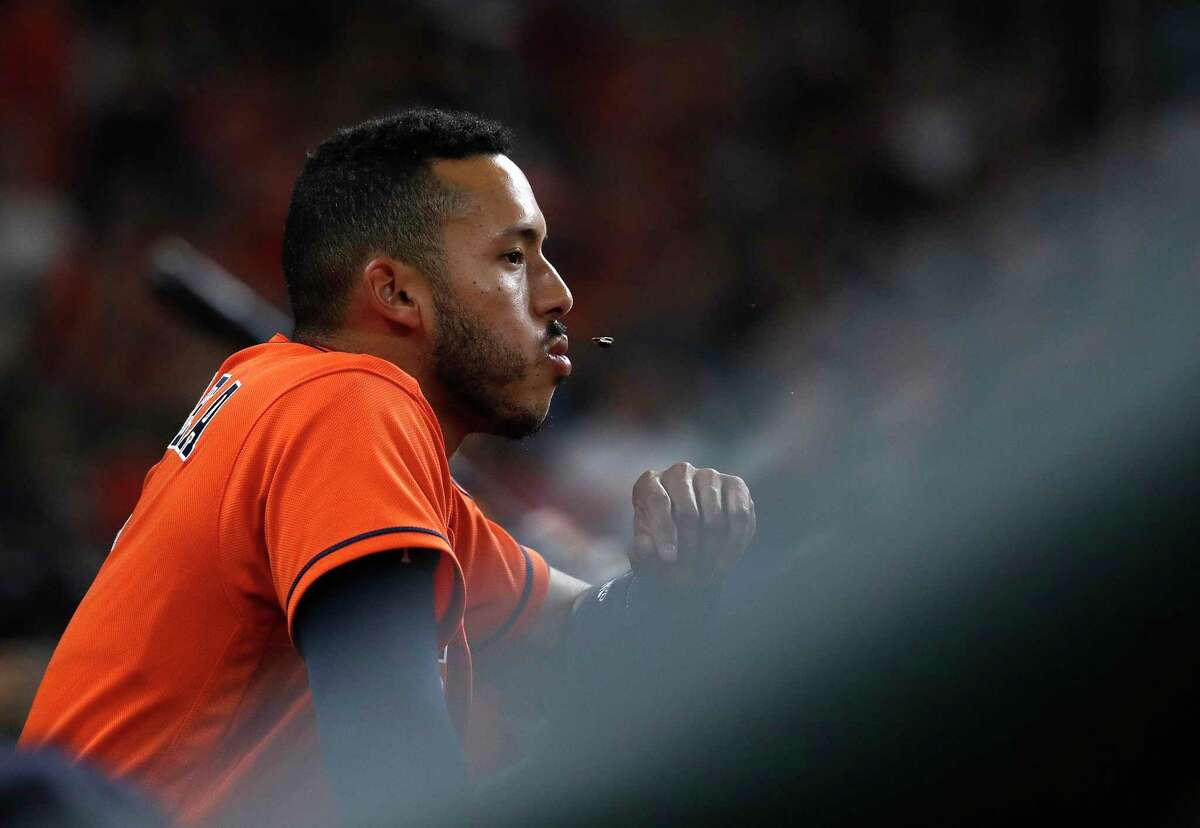 Shortstop Carlos Correa has spit a sunflower seed or two during his Astros career.