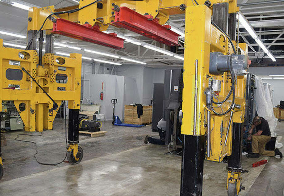 Production Press is in the process of installing a new five-color, digital printing press. Photo: Samantha McDaniel-Ogletree   Journal-Courier
