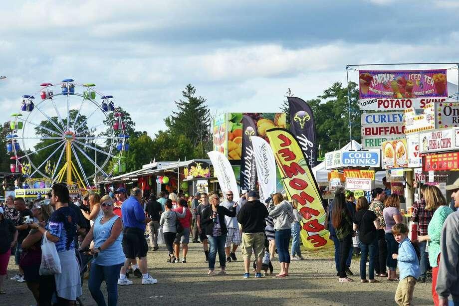 The Goshen Fair at the Goshen Fairgrounds, Route 63 in Goshen in 2019. Photo: Lara Green Kazlauskas / For Hearst Connecticut Media /