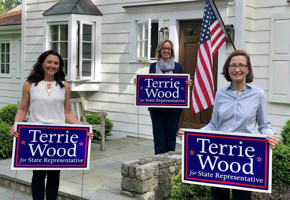 Campaign chair Tracy Marra, State Rep. Terrie Wood, treasurer Tammy Langalis.