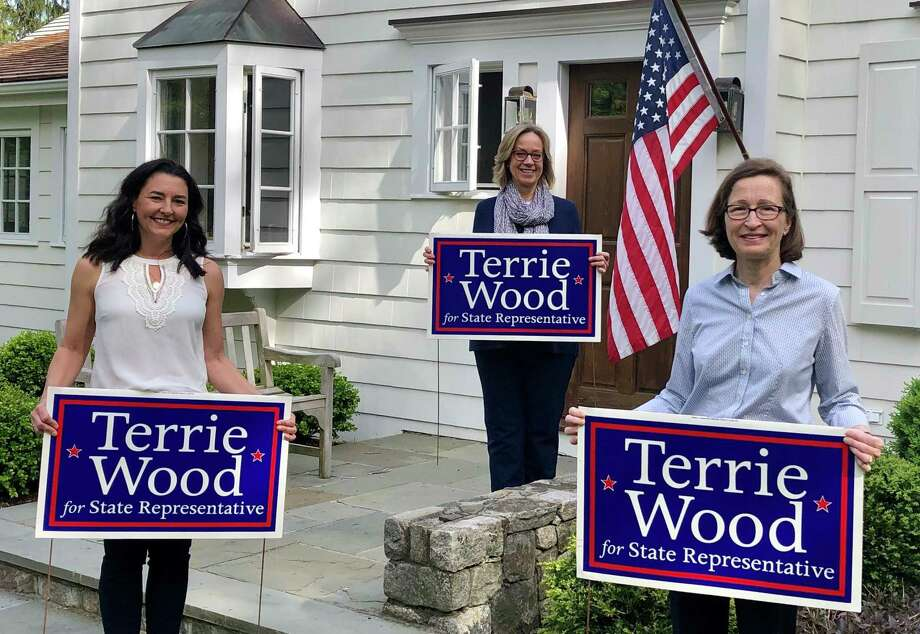 Campaign chair Tracy Marra, State Rep. Terrie Wood, treasurer Tammy Langalis. Photo: Contributed
