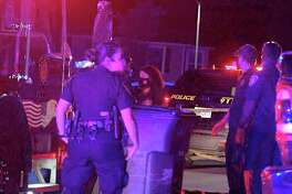 San Antonio police are searching for those involved in a drive-by shooting on the far East Side that wounded a teenager.