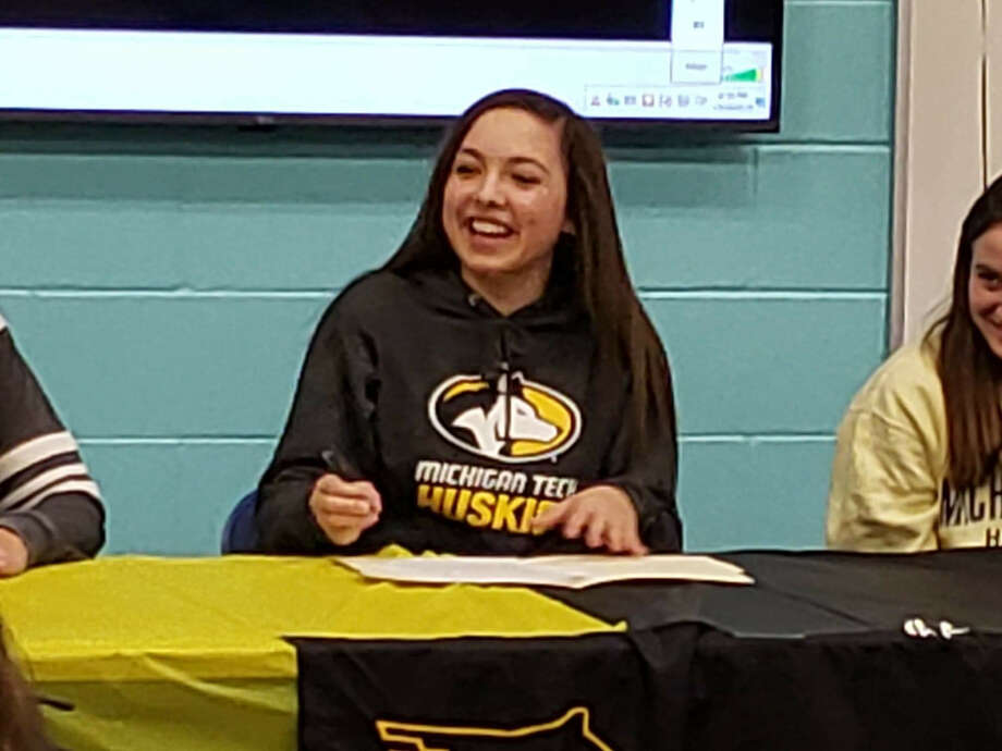 Freeland's Leiya Rybicki recently signed a National Letter of Intent to play volleyball for Michigan Tech University. Photo: Photo Provided