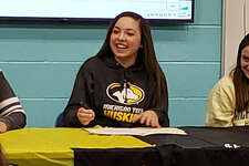 Freeland's Leiya Rybicki recently signed a National Letter of Intent to play volleyball for Michigan Tech University.