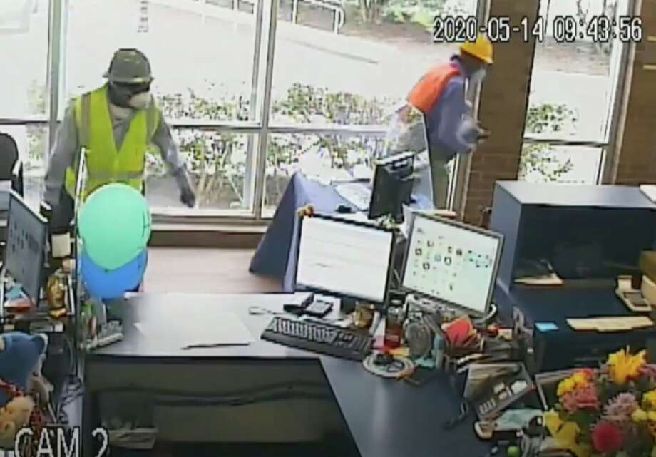 Houston police are searching for three men who robbed a credit union inside the Anheuser-Busch brewery on Gellhorn near the East Freeway on Thursday, May 14, 2020. Photo: Houston Police Department
