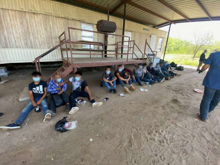 Border Patrol agents stationed in Zapata arrested 13 illegal immigrants found in a stash house on the morning of May 18. Photo: Courtesy Of The U.S. Border Patrol