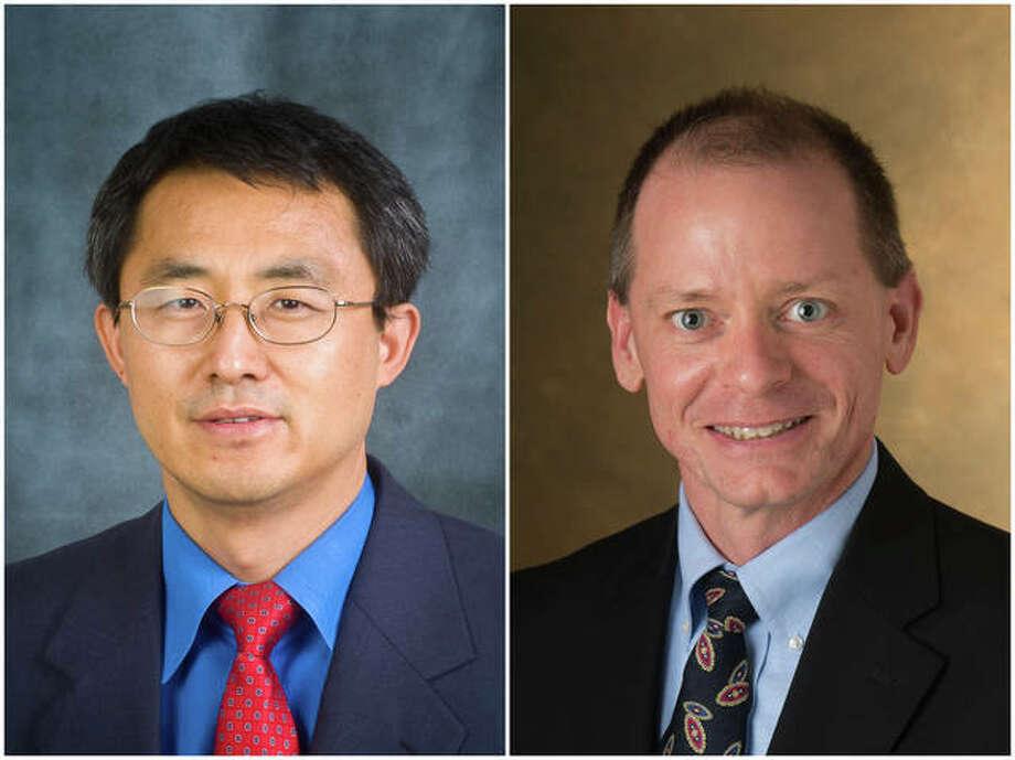 SIUE Professors Felix Lee and Tim McPherson