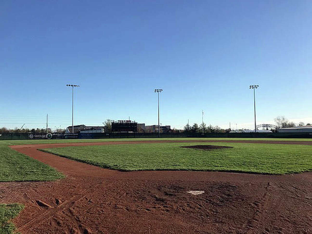 Tom Pile Field sits empty inside the District 7 Sports Complex. The state series for spring sports were canceled in April. IHSA executive director Craig Anderson is hopeful there will be fall sports.