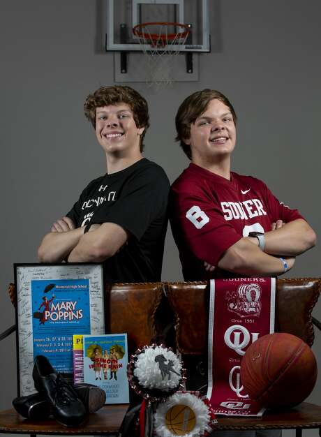 Twins Andrew, left, and Evan Burke have taken different paths at Memorial High School. Evan will be attending the University of Cincinnati to study musical theater, and Andrew will be attending the University of Oklahoma to study business. Photo: Godofredo A. Vásquez, Staff Photographer / ? 2020 Houston Chronicle