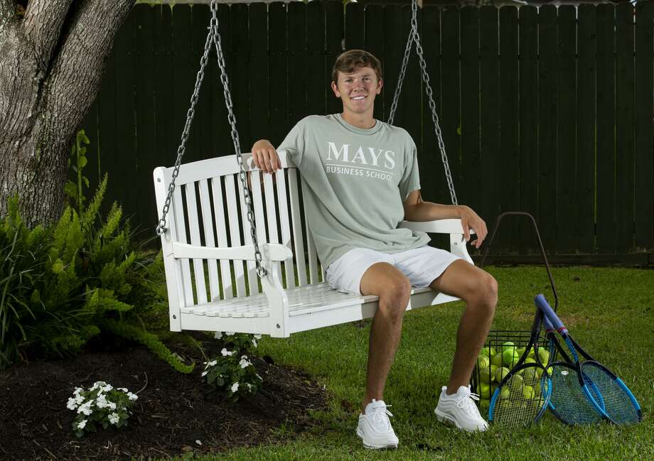 Deer Park High School student Tanner Haltom's final tennis season was cut short because of COVID-19. He says it's weird to imagine going to Texas A&M University next year when it doesn't feel like high school is finished. Photo: Godofredo A. Vásquez, Staff Photographer / ? 2020 Houston Chronicle