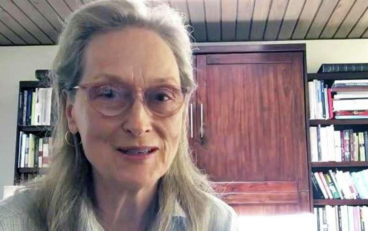 A screenshot of Meryl Streep's appeal for Sharon Hospital.