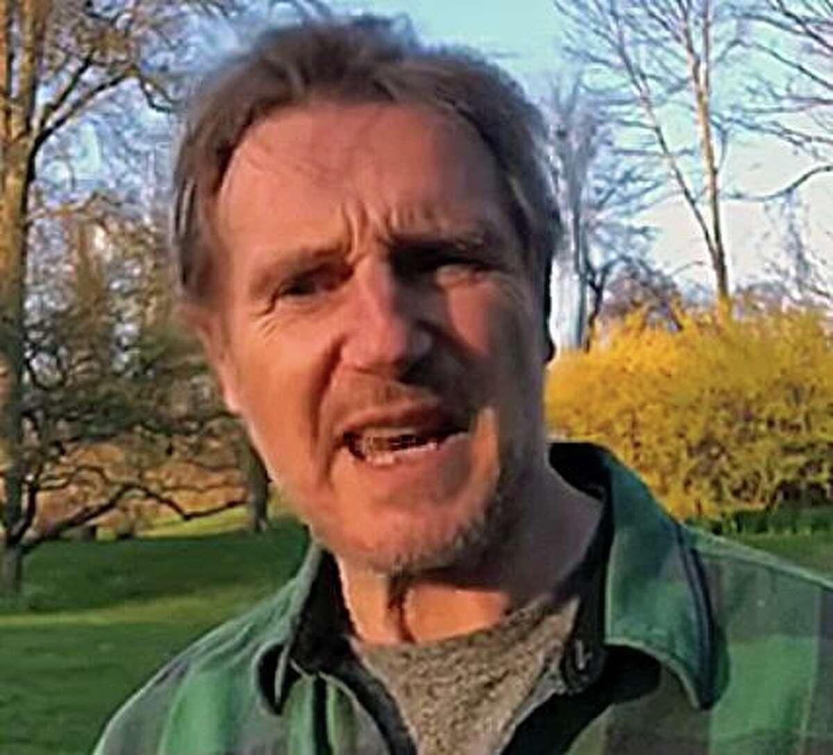 A screenshot of Liam Neeson's appeal for Sharon Hospital.