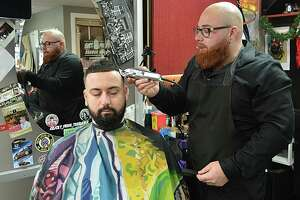 Joey Pelkey, 26, owner of Get Fresh Barber Shop at 131 Saybrook Road in Middletown, was chosen by Middletown Press readers as 2018 Person of the Year.