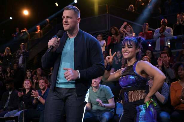 ULTIMATE TAG: L-R: Host JJ Watt and Atomic Ant in ULTIMATE TAG, premiering midseason on FOX. (Photo by FOX Image Collection via Getty Images)