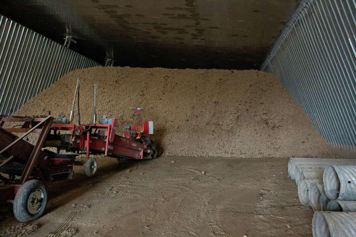 A potato warehouse in Moses Lake, Washington, on April 3, 2020.