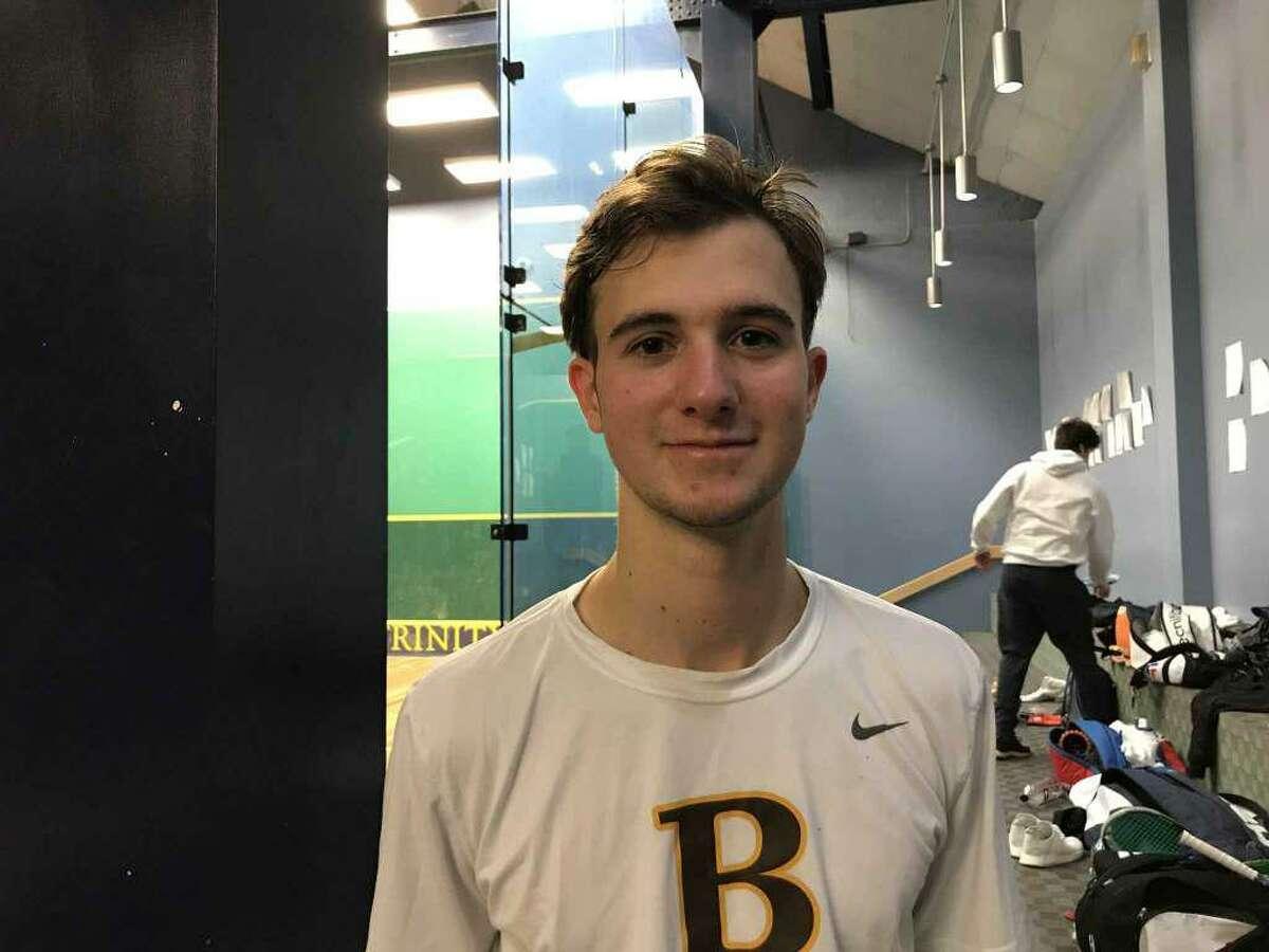 Brunswick School senior Nick Spizzirri was selected as a high school All-American by US Squash.