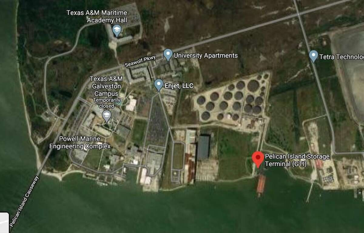 Two people were injured Tuesday after an oil tank exploded on Pelican Island in Galveston, officials said.