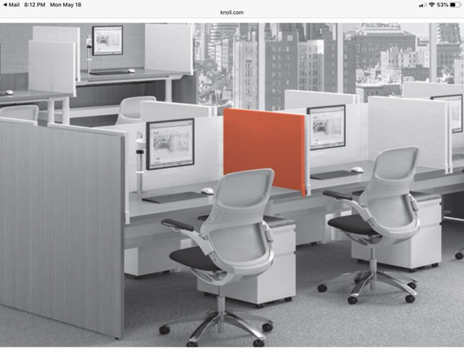 Rethinking the office of the future means partitions, easy-to-clean materials and more. (Provided)
