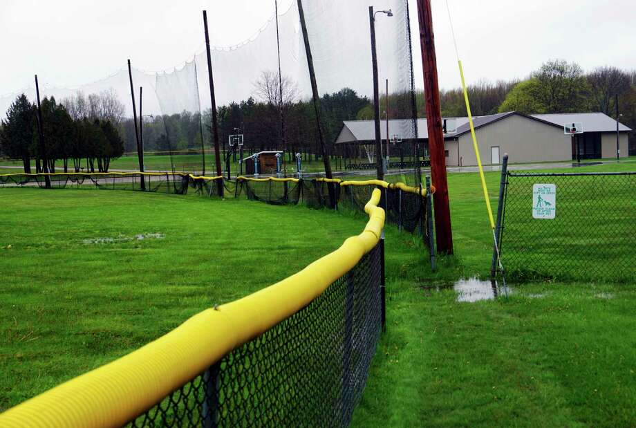 An empty outfield atWheatland Township parkin Remus will be a normal sight this summer. (Pioneer photo/Joe Judd)