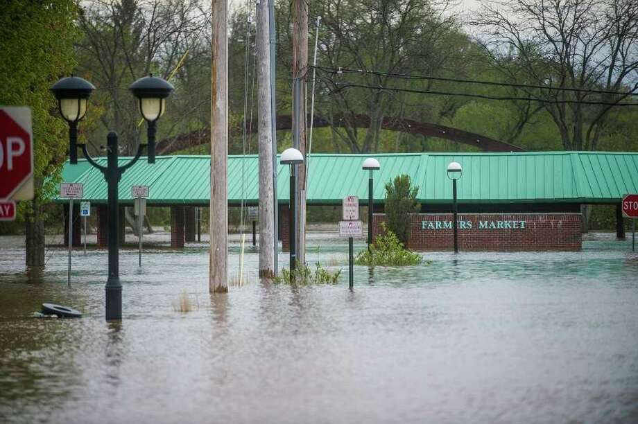 Midland's farmers market area is pictured Tuesday afternoon. (Katy Kildee/kkildee@mdn.net)