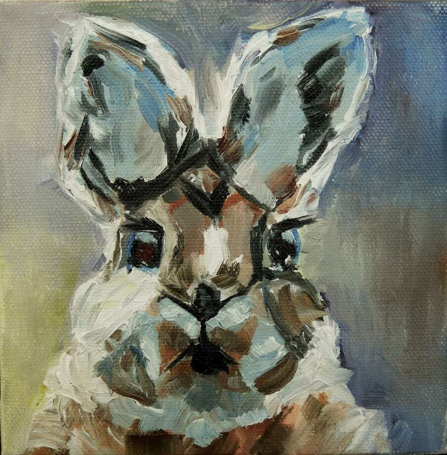 """Cottontail"" by Annie McAward of Sherman was awarded first place for a painting. Photo: Courtesy Of Great Hollow Nature Center / Danbury News Times"