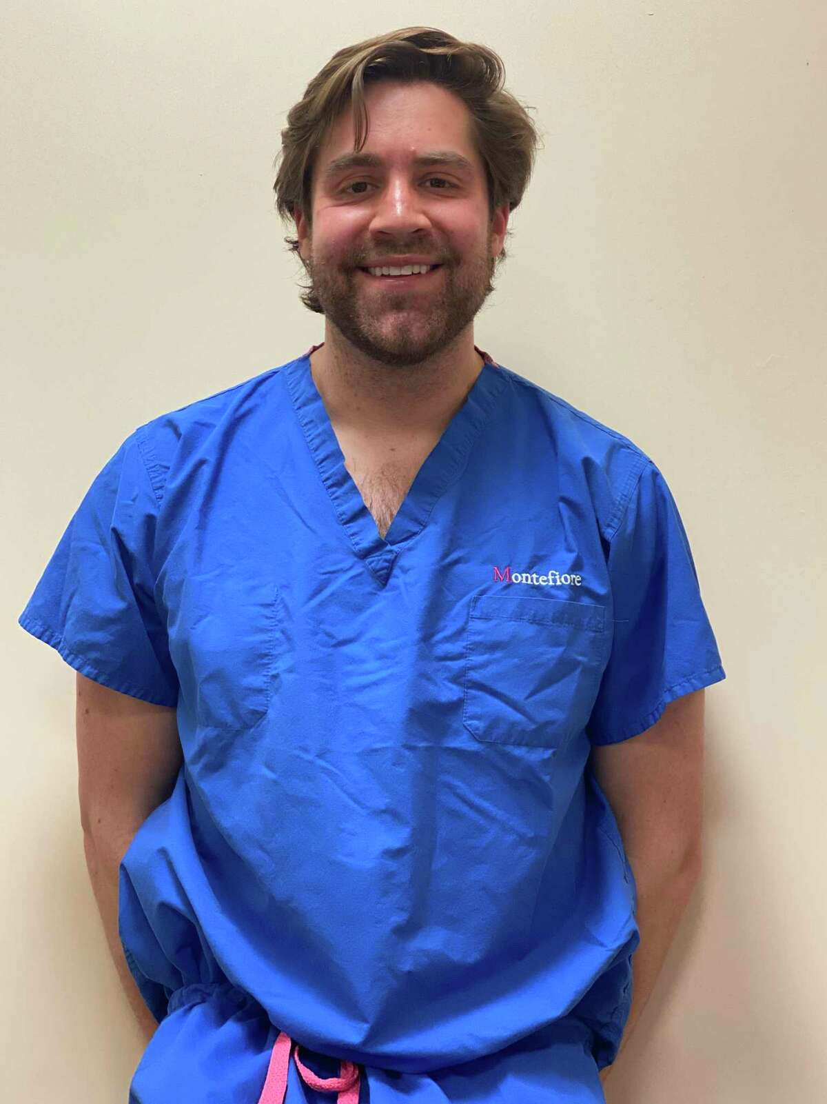 In the second year of his psychiatry residence, Ridgefield resident Ryan Flanagan was temporarily moved to a medical floor to help treat COVID-19 patients at Montefiore Medical Center in the Bronx.