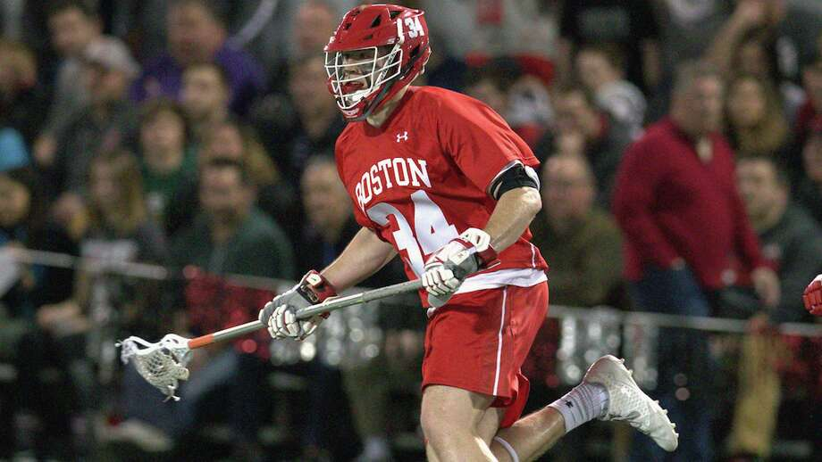 Ridgefield's Chase Levesque has signed to play professional lacrosse for Major League Lacrosse's defending champions, the Chesapeake Bayhawks. Photo: Rich Gagnon /Boston University Athletics