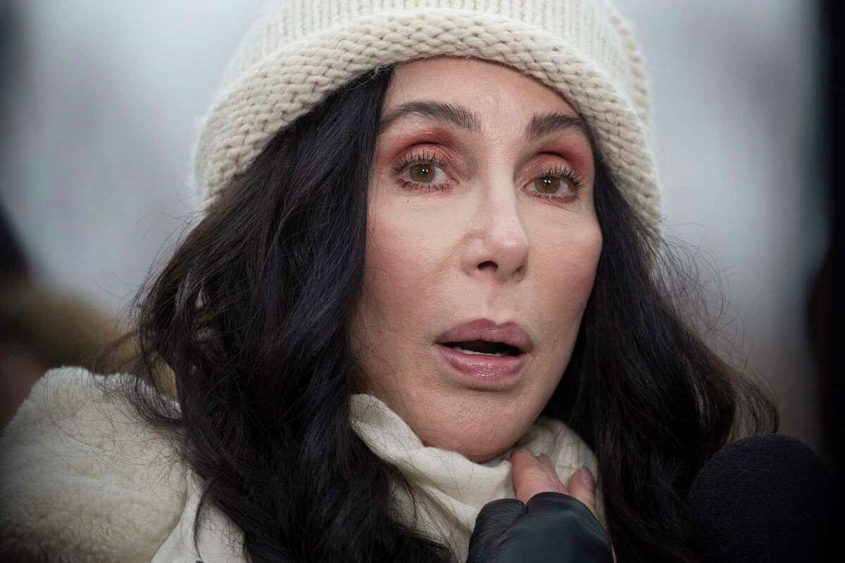 FILE-- Cher attends the Womena€™s March in Washington, where thousands of demonstrators are protesting Donald Trumpa€™s inauguration, Jan. 21, 2017. With a new album of Abba covers out in September 2018, a Broadway musical about her life and a no-holds-barred take on her career, the 72-year-old pop icon is as outspoken as ever. (Ruth Fremson/The New York Times)