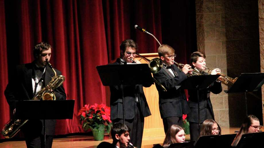 Benzie Central's jazz band performs in concert. (File photo)