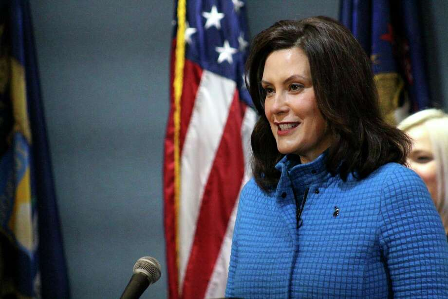 "Gov. Gretchen Whitmer announced Monday during a news conference that restaurants, bars and other retail businesses can reopen in much of northern Michigan starting Friday. She told NBC's Today show that she has had ""a conversation with some folks"" connected to former Vice President Joe Biden's campaign about being his running mate. (Michigan Office of the Governor via AP, Pool) / Michigan Office of the Governor"