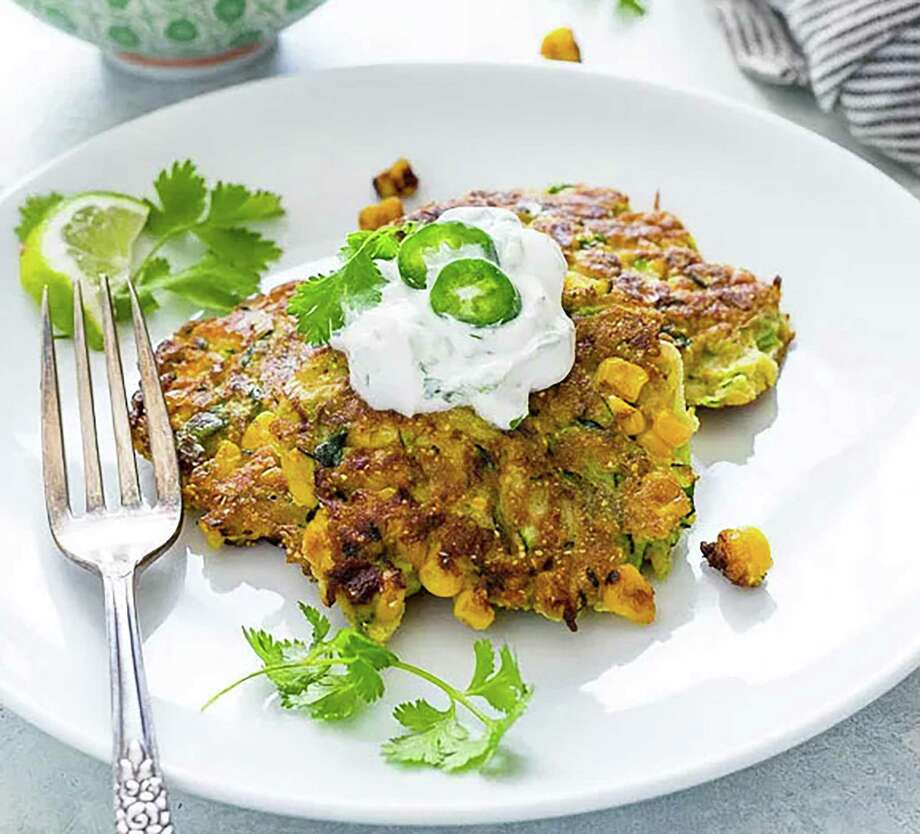 Zucchini Fritters with Cilantro Lime Sauce was one of the recipes shared at Wilton Library's Cookbook Connection on May 5. Photo: Contributed Photo
