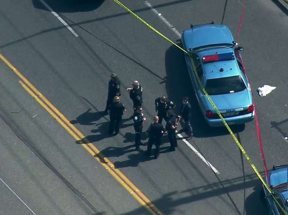 Police on the scene of a fatal officer-involved shooting on Tuesday, May 19, 2020. Photo: Courtesy Of KOMO News