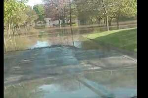 Jake Endline captured video of standing water in a neighborhood off M-20 that includes Wildes, Smith, Riggie, Spruce, Avon, Bradfield streets.