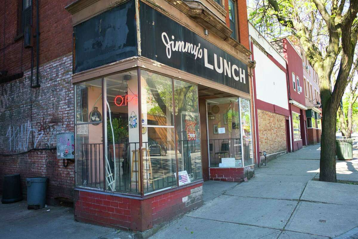 A view of Jimmy's Lunch on Congress St. on Wednesday, May 20, 2020, in Troy, N.Y. The restaurant reopened on Wednesday when owner Anastasis Londis returned to work after being attacked and sent to the hospital. (Paul Buckowski/Times Union)