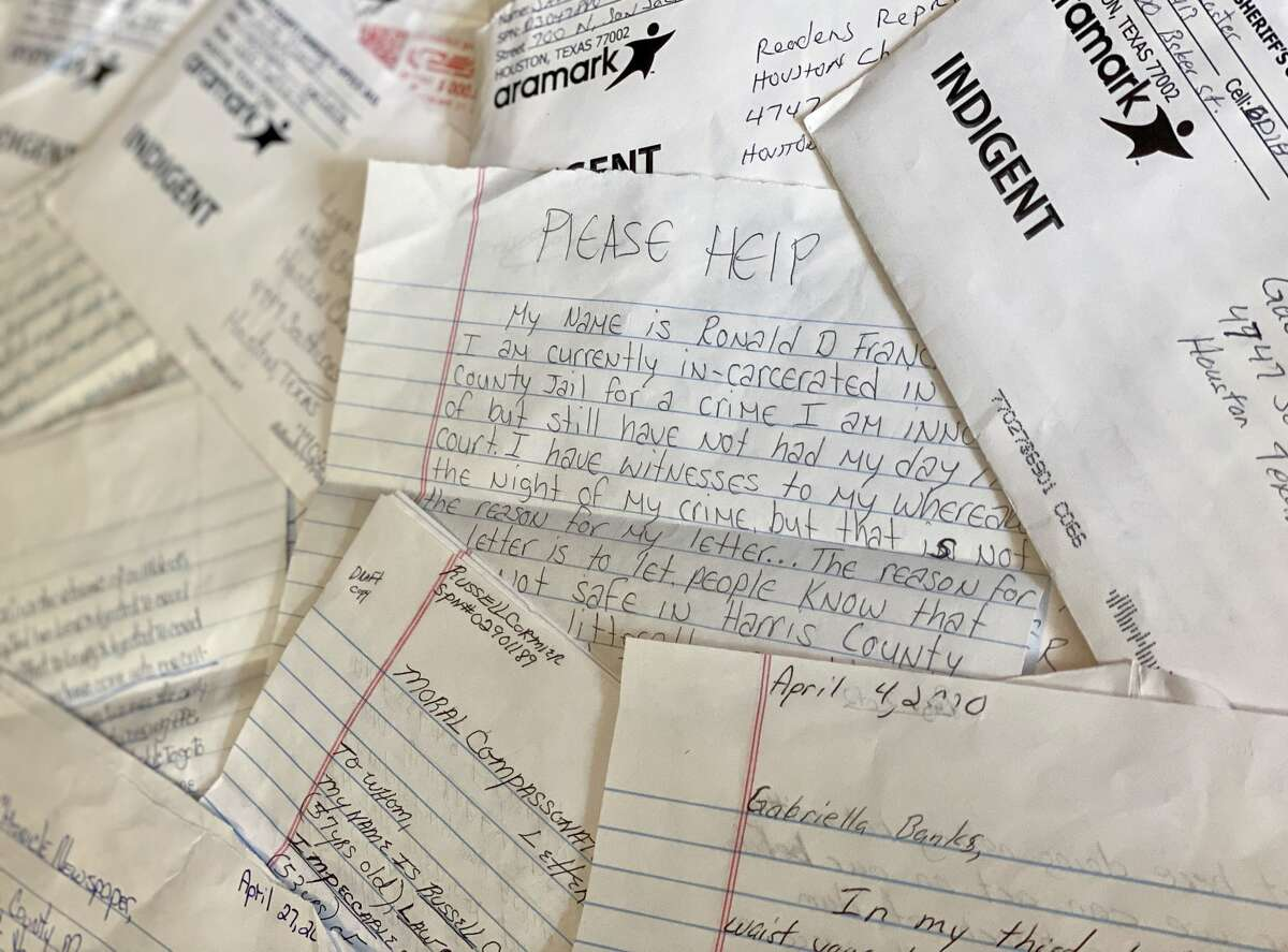 Dozens of inmates sent letters to the Houston Chronicle describing what life has been like in the Harris County Jail during the coronavirus pandemic.