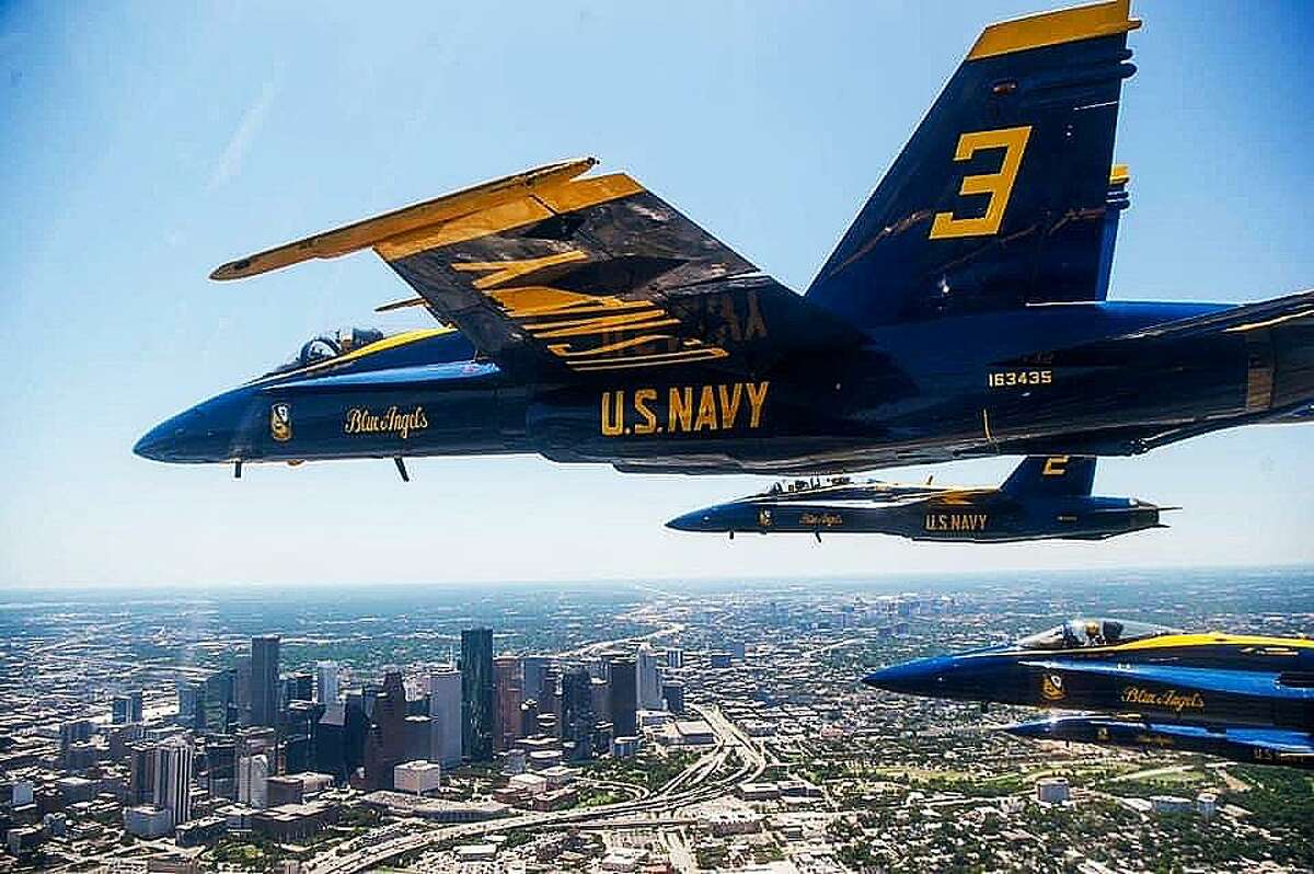 Major Frank Zastoupil is No. 3 in the flight and he always flies on the front left wing of the formation. He is the only one from the United States Marine Corps. All the other pilots are U. S. Navy.
