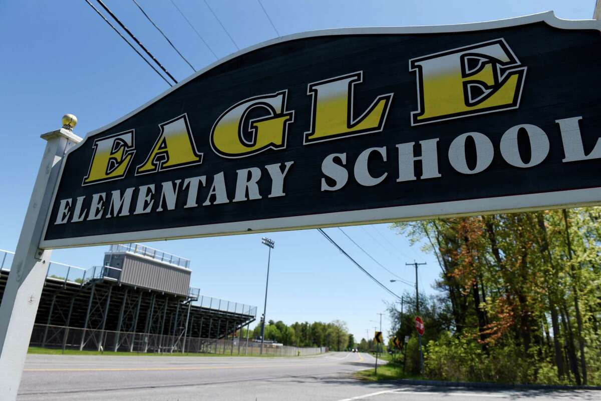 Bethlehem's Eagle Elementary School had a student COVID-19 infection rate of 4.3 percent, with 18 students catching the virus. Six teachers also fell ill, bringing the school's total infection rate to 5 percent, according to the data. Eagle Elementary on Wednesday, May, 20, 2020, on in Bethlehem, N.Y. (Will Waldron/Times Union)