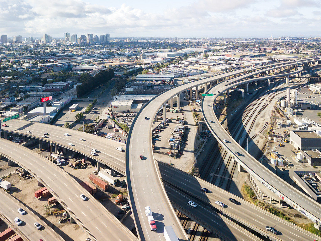 Drone shows what rush-hour traffic now looks like as SF moves into Stage 2