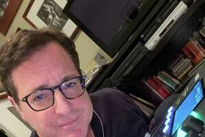 "Comedian, author and actor Bob Saget has a new podcast called ""Bob Saget's Here For You,"" with new episodes every Monday, Wednesday and Friday. He records it from his home."